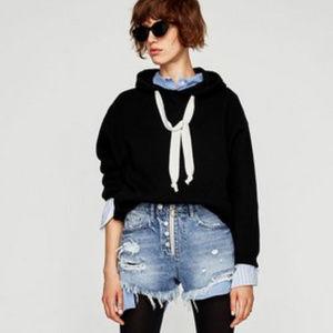 Zara distressed High Waisted Shorts size 6
